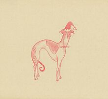 sighthound santa by laureliz