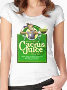 Master Sokka's Cactus Juice Women's Fitted Scoop T-Shirt