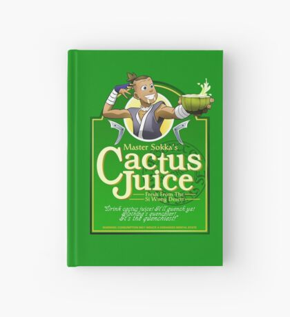 Master Sokka's Cactus Juice Hardcover Journal
