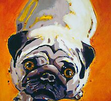 'Do You Have to Go to Work?' Pug by Kelly Telfer