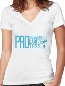 Triple Pro Women's Fitted V-Neck T-Shirt