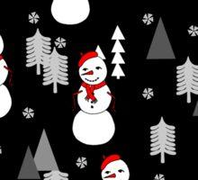 Snowman - Night by Andrea Lauren  Sticker