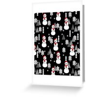 Snowman - Night by Andrea Lauren  Greeting Card