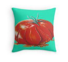 Squashed Tomato Throw Pillow