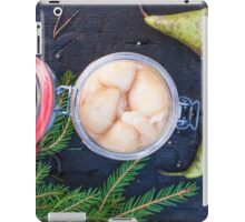 Jar full of pickled pears iPad Case/Skin