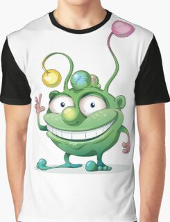 Good-natured Green Monster Graphic T-Shirt