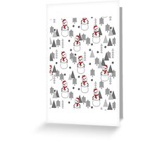 Snowman - White by Andrea Lauren  Greeting Card