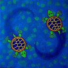 spiralling turtles  by richard  webb