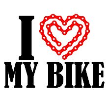 I Love My Bike by fashionera