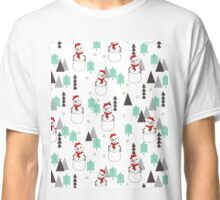 Snowman - Mint and White by Andrea Lauren  Classic T-Shirt
