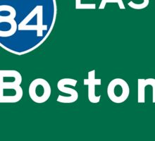 Boston, MA Road Sign, USA Sticker