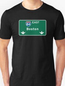 Boston, MA Road Sign, USA T-Shirt