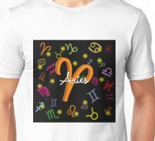 Aries Floating Zodiac Name Unisex T-Shirt