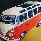 '23 Window Sunroof VW Bus' Type I Volkswagen by Kelly Telfer