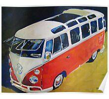 '23 Window Sunroof VW Bus' Type I Volkswagen Poster