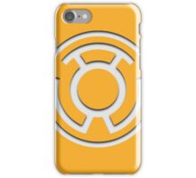 Yellow Lantern Insignia (White) iPhone Case/Skin