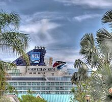 Cruise Ship at the Prince George Wharf in Nassau, The Bahamas by Jeremy Lavender Photography
