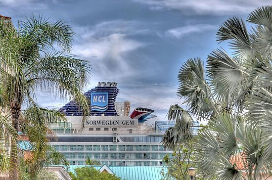 Cruise Ship at the Prince George Wharf in Nassau, The Bahamas by 242Digital