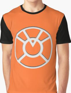 Orange Lantern Insignia (White) Graphic T-Shirt