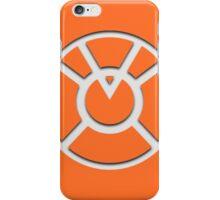 Orange Lantern Insignia (White) iPhone Case/Skin