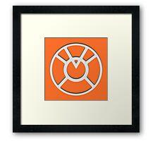 Orange Lantern Insignia (White) Framed Print