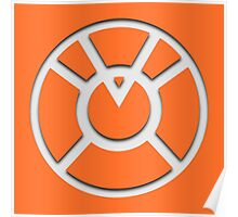Orange Lantern Insignia (White) Poster