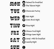 TBBT - Sheldon's weekly schedule Unisex T-Shirt