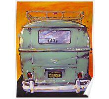 'Slopoke VW Bus' Volkswagen Type II Poster