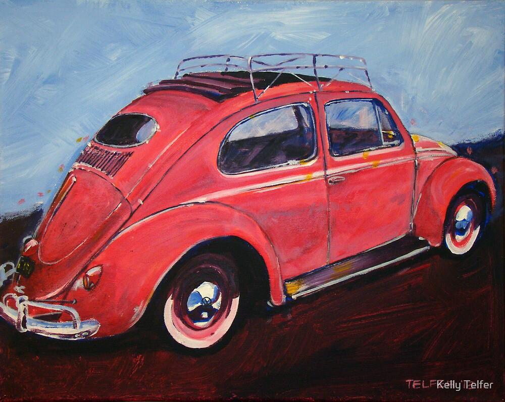 'Salmon Oval Sunroof' Oval Window Volkswagen by Kelly Telfer