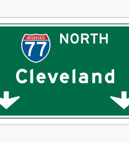 Cleveland, OH Road Sign, USA Sticker