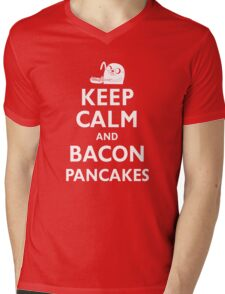 Keep Calm and Bacon Pancakes Mens V-Neck T-Shirt