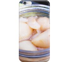 Jar full of yellow pear compote iPhone Case/Skin