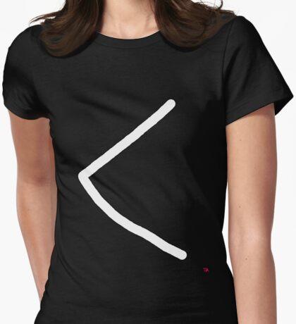 Kaunan rune represents ulcer or torch. Womens Fitted T-Shirt