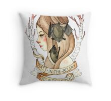 Bats and Bodies Throw Pillow