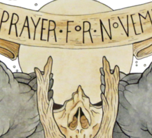 No prayers for November Sticker