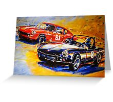 'Dodson Racing' Triumph Spitfire & GT6 Vintage Racing Greeting Card