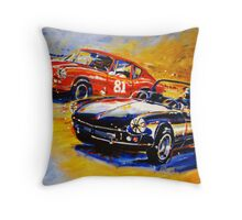 'Dodson Racing' Triumph Spitfire & GT6 Vintage Racing Throw Pillow