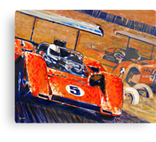 'Two McLaren's - Can-Am Champions' Vintage Racing Canvas Print
