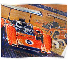 'Two McLaren's - Can-Am Champions' Vintage Racing Poster