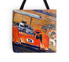 'Two McLaren's - Can-Am Champions' Vintage Racing Tote Bag