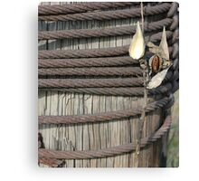 Seed Pod Iron and Wood Canvas Print