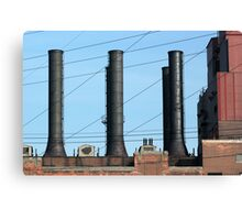 Stacks and Lines 1 Canvas Print