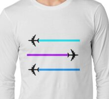 planes pattern Long Sleeve T-Shirt
