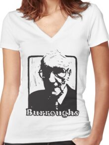 William S Burroughs Women's Fitted V-Neck T-Shirt