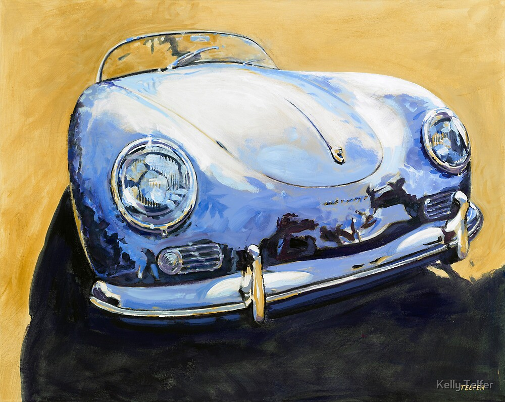 'Blue Speedster' 356 Porsche by Kelly Telfer