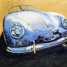 &#x27;Blue Speedster&#x27; 356 Porsche by Kelly Telfer