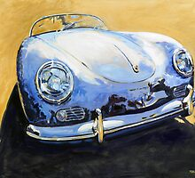 'Blue Speedster' 356 Porsche by Kelly Telfer