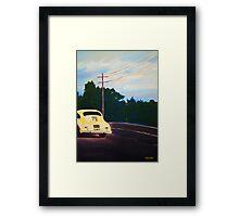 'California Dream on Hwy 1' Vintage Porsche 356 Framed Print