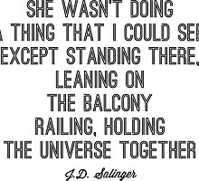 Favorite Salinger Quote by Kate Sortino