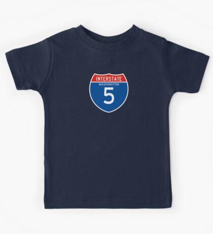 Interstate Sign 5, Washington, USA Kids Tee